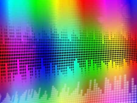 vibrations: Sound Equalizer Background Meaning Music Vibrations Or Audio Meter  Stock Photo