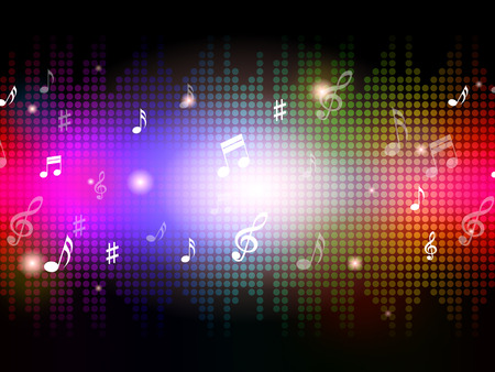 soul music: Music Background Showing Notes And Musical Piece