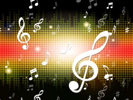 hymn: Music Background Showing Musical Notes And Sounds