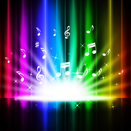 Rainbow Curtains Background Meaning Music Songs And Stage Stock ...