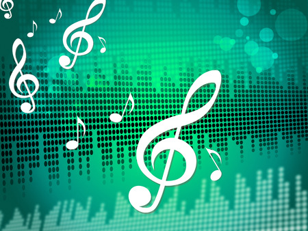 Treble Clef Background Meaning Sound Frequency Or Music Wave
