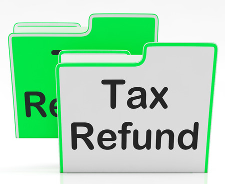qualify: Tax Refund Representing Taxes Paid And Qualify Stock Photo