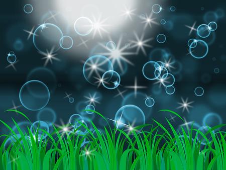 light burst: Glow Bubbles Bedeutung Light Burst und hell Lizenzfreie Bilder