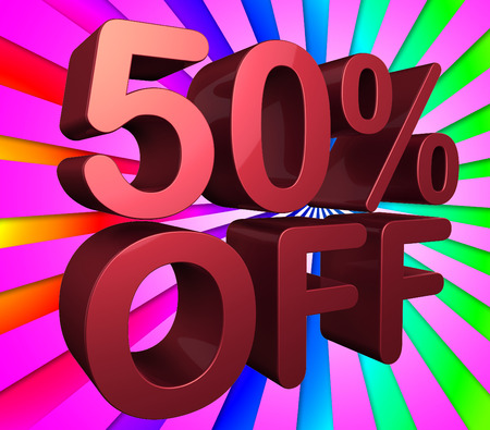 merchandise: Fifty Percent Off Meaning Closeout Percentage And Merchandise
