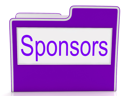 sponsors: File Sponsors Meaning Paperwork Organization And Benefactor