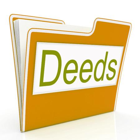 correspond�ncia: Deed Arquivo Representando Organize correspond�ncia e Binder Banco de Imagens
