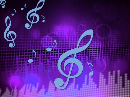 Music Equaliser Indicating Sound Track And Soundtrack