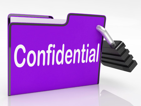 confidentially: Security Confidential Representing Secrecy Classified And Administration