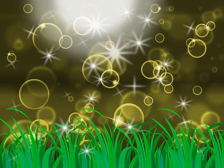 light burst: Glow Bubbles Zeige Light Burst Und Hintergrund