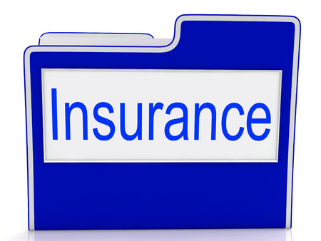 insure: Insurance File Indicating Correspondence Insure And Indemnity Stock Photo