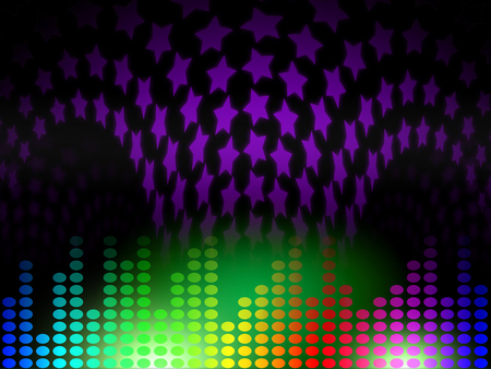 Equaliser Background Showing Soundtrack Musical And Remix Stock Photo