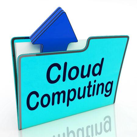 computer netzwerk: Cloud Computing Zeige Computer Network und FTP-