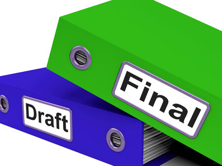 rewriting: Final Draft Showing Outline Key And Edited Stock Photo