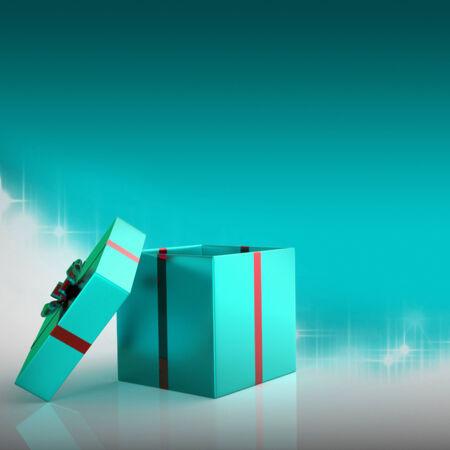 Xmas Giftbox die Nieuwjaar en Giften vertegenwoordigt