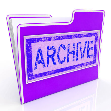 documentation: File Archive Representing Folders Library And Documentation Stock Photo