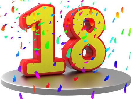 eighteenth: Eighteenth Anniversary Meaning Birthday Party And Anniversaries