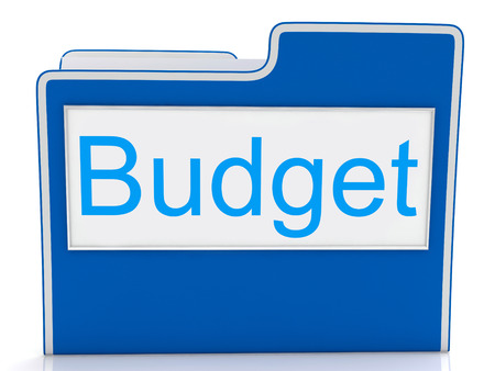 budgets: File Budget Showing Accounting Organized And Accountant