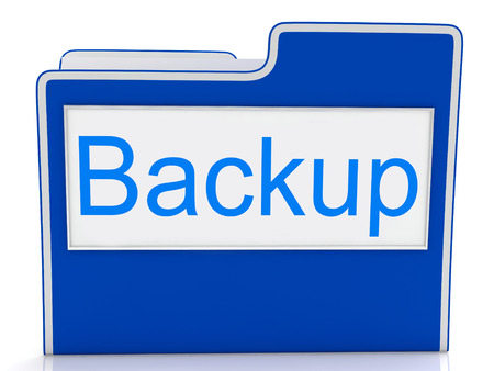 data archiving: Backup File Meaning Data Archiving And Organization Stock Photo