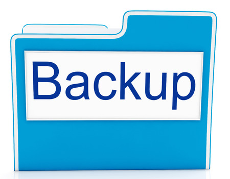 archiving: Backup File Representing Data Archiving And Drive