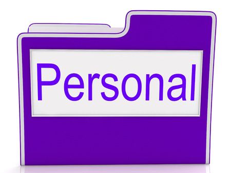 confidentially: Personal File Meaning Organization Confidential And Folders Stock Photo