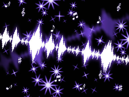 amplitude: Sound Wave Indicating Music Soundwaves And Amplifier