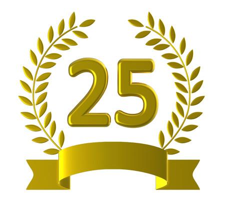 Twintig Vijf Vertegenwoordigen Gelukkige Verjaardag En Feest