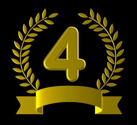 salutation: Four Birthday Representing Celebrating Salutation And Greeting