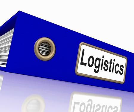 coordinacion: Log�stica Archivo Significado Coordinador Empresarial y carpetas Foto de archivo