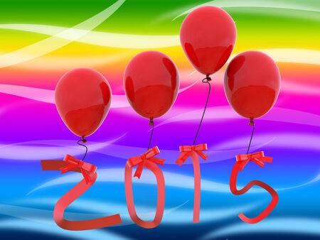 festividades: Veinte Quince Mostrando 2015 A�o Y Fiestas Foto de archivo