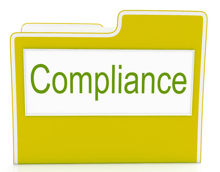 complied: File Compliance Indicating Agree To And Conform Stock Photo