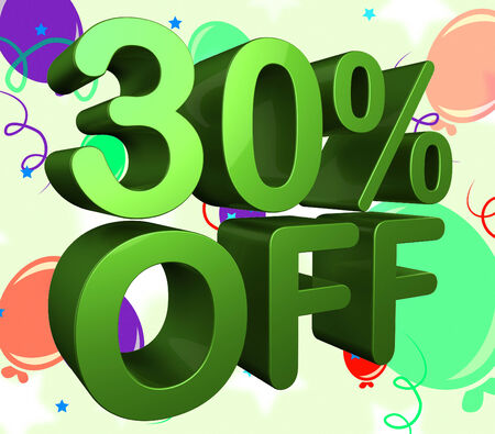 thirty percent off: Thirty Percent Off Meaning Reduction Discount And Closeout