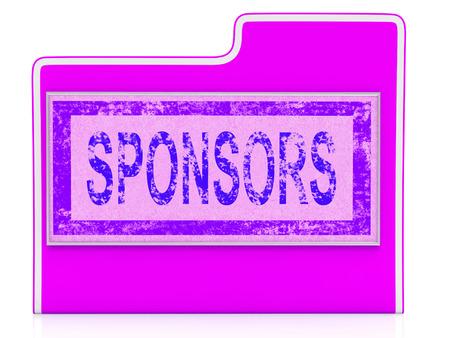 promotes: Patrocinadores archivo que muestra las carpetas organizadas y abog�