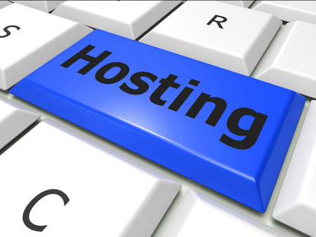 webhost: Online Hosting Indicating World Wide Web And Web Site