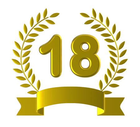 eighteenth: Eighteenth Birthday Indicating Marriage Celebrating And Anniversaries Stock Photo