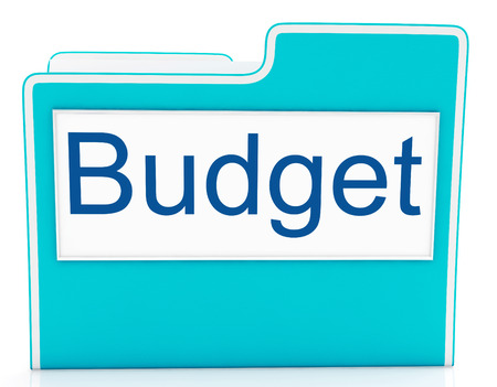 expenditure: File Budget Representing Finance Economy And Expenditure Stock Photo