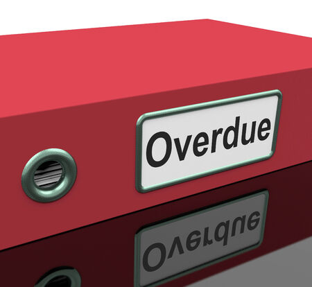 overdue: Overdue File Representing Behind Time And Files