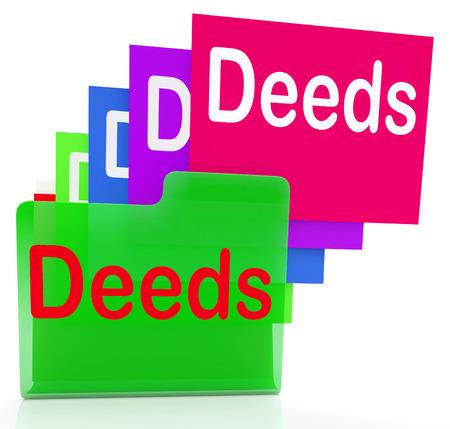 deeds: Deeds Files Meaning Trust Certificate And Paperwork