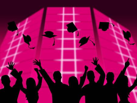 Education Graduation Indicating Upward Tutoring And Phd