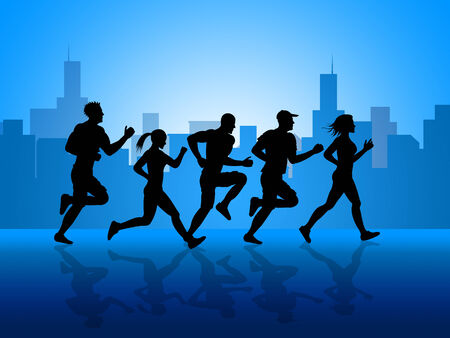 get a workout: Exercise Jogging Meaning Get Fit And Metropolis