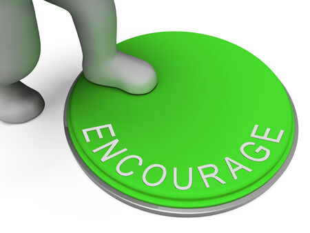 encouraged: Encourage Switch Showing Spur On And Inspired Stock Photo