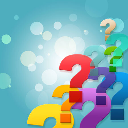 asked: Question Marks Indicating Frequently Asked Questions And Blank Space
