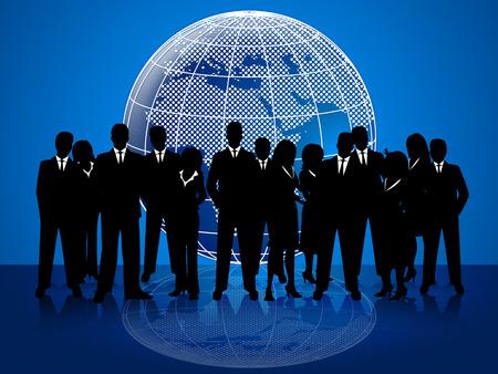 Bedrijfs mensen die professioneel en wereldwijd