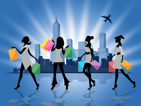 commercial activity: City Shopping Meaning Commercial Activity And Consumerism
