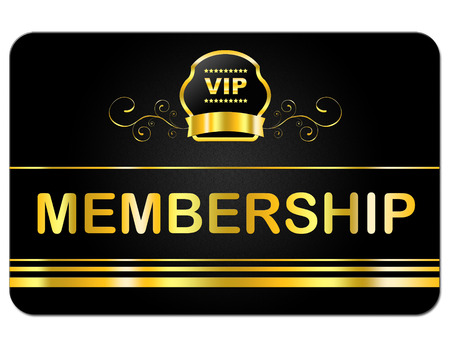 membership: Membership Card Indicating Very Important Person And Rich Exclusivity Stock Photo