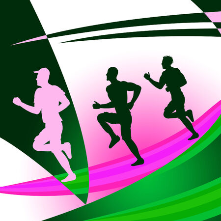 get a workout: Exercise Jogging Representing Get Fit And Jogger