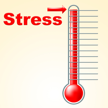 pressured: Thermometer Stress Indicating Temperature Overload And Pressured