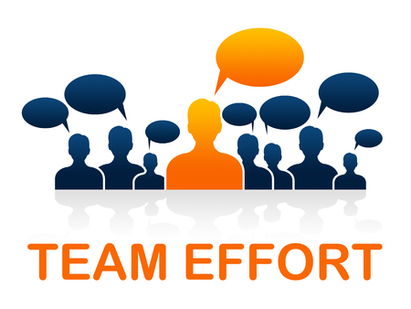 combined effort: Team Effort Representing Solidarity Together And Organization Stock Photo