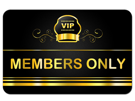 members only: Members Only Representing Very Important Person And Membership Card