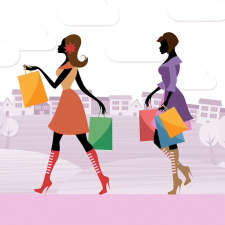merchandiser: Shopping Shopper Meaning Commercial Activity And Merchandise