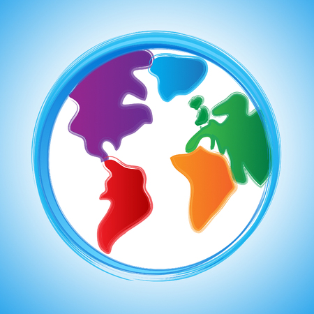 globally: Background Globe Showing Globally Globalisation And Worldwide